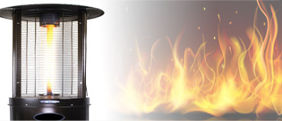 Tabletop Patio Heaters, Freestanding Patio Heaters, Wall Mounted, Fire Pits, Torches