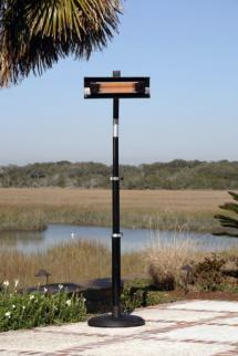 Black Steel Telescoping Offset Infrared Patio Heater