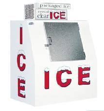 451-7801 - LEER - 40 cu ft Outdoor Ice Merchandiser