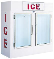 455-8301 - LEER - 60 cu ft Indoor Ice Merchandiser