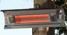 02110 - Wall Mounted Stainless Infrared Patio Heater
